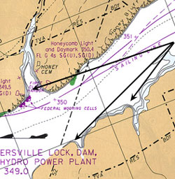 The Map On Top Left Is Same One From Jig Page Two Arrows To Right Mark Ideal Points Look At Contour Lines